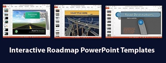 interactive-roadmap-powerpoint-templates, Modern powerpoint