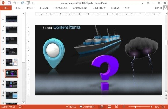 animated storm video animation for powerpoint
