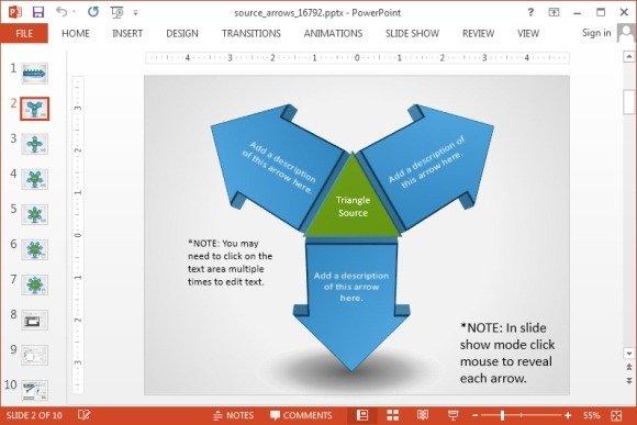 Triangle Shaped Arrow Diagramg Fppt