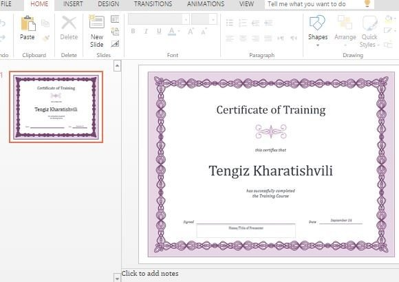 Best certificate templates for powerpoint elegant purple employee training certificate yelopaper Image collections