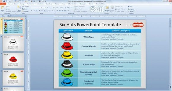 free-six-thinking-hats-powerpoint-template