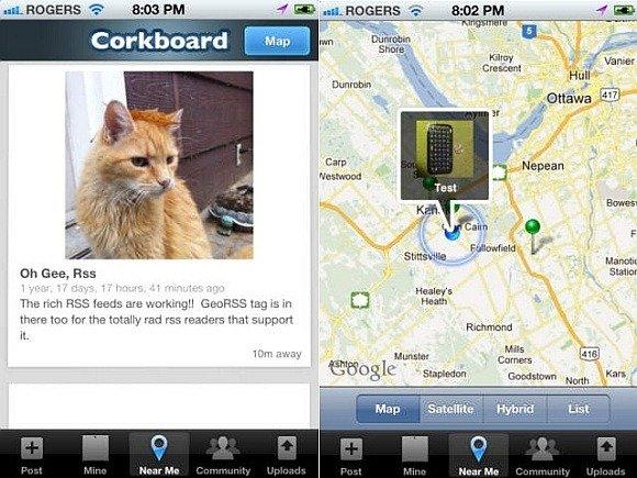iOS app for Corkboard