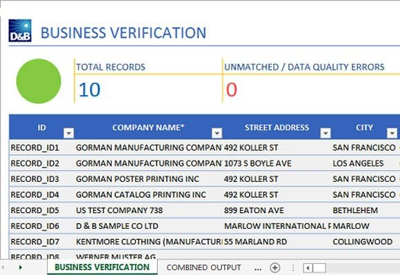 Business verification app