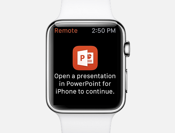 Control PowerPoint With Apple Watch