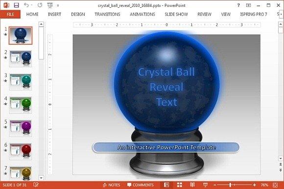 Questions animated crystal ball powerpoint template toneelgroepblik Choice Image