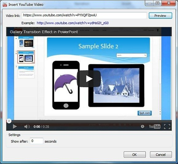 Insert YouTube videos in PowerPoint 2013