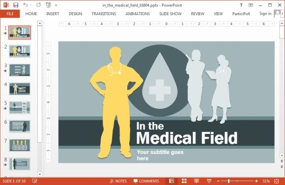 Medical field PowerPoint template