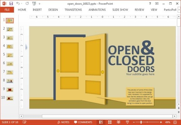 Animated animated open closed doors powerpoint template toneelgroepblik Images