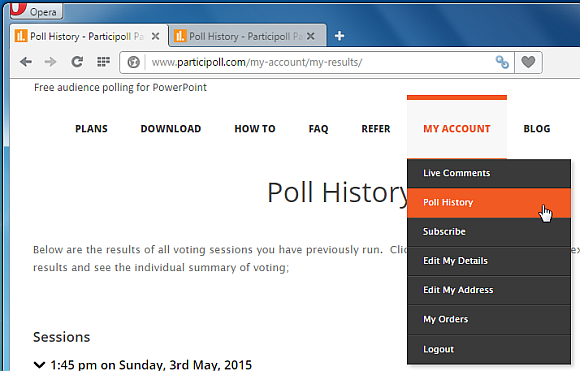 Polling history for Participoll