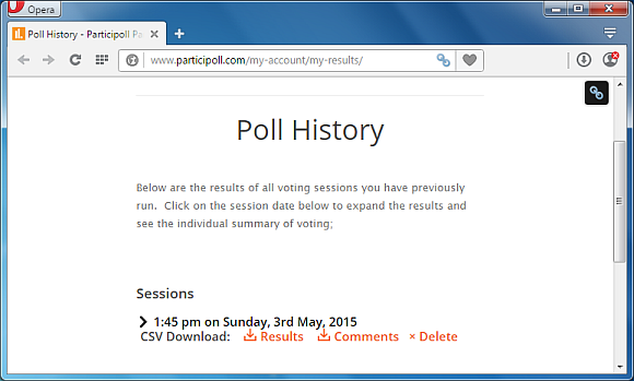 Polling history for Polls