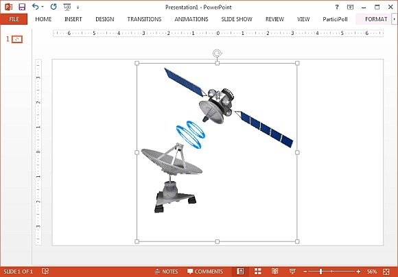 Satellite dish clipart for PowerPoint
