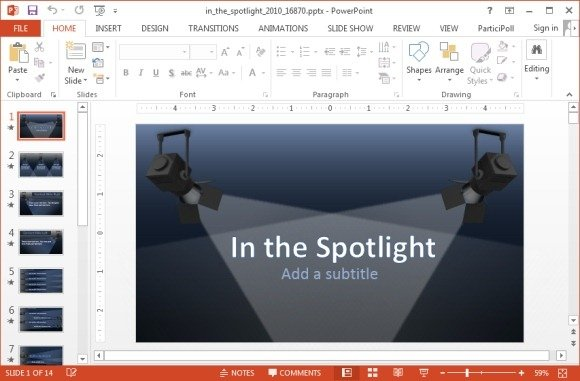 Spotlights PowerPoint template