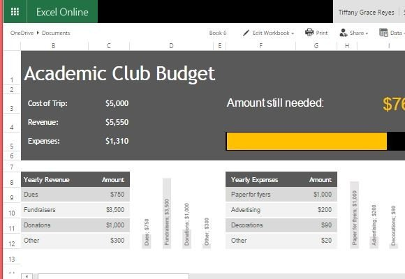academic club budget template for excel