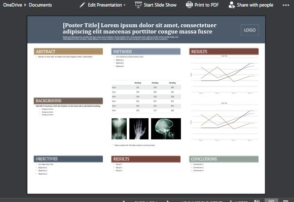 medical poster template for powerpoint