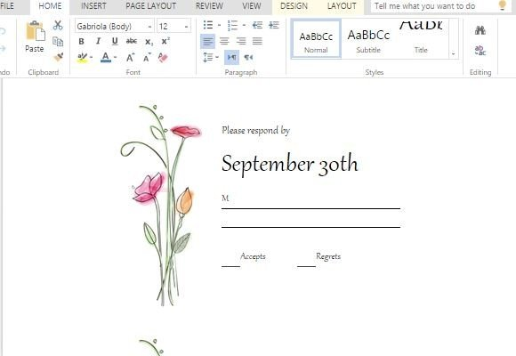 rsvp cards maker template for word