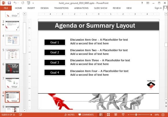 Animated tug of war powerpoint template agenda layout with tug of war image toneelgroepblik