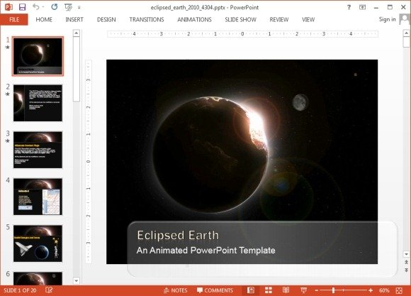 animated eclipse powerpoint templates, Modern powerpoint