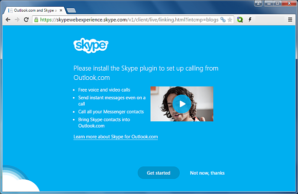 Integrate Skype with Outlook.com