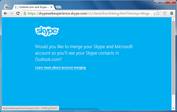 Link your Skype and Microsoft account