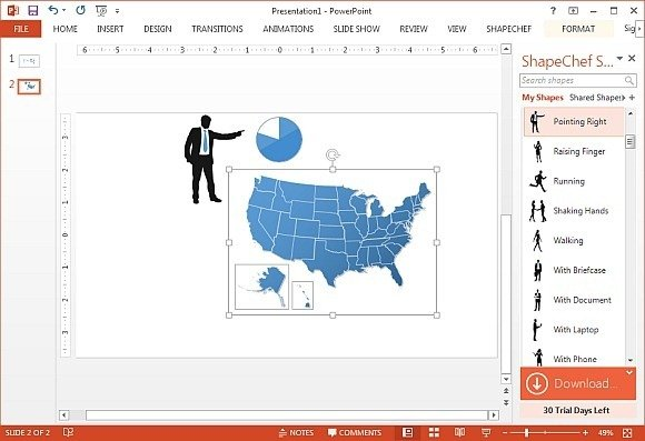 ShapeChef clipart in PowerPoint presentation