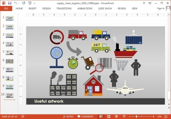 Animated supply chain powerpoint template supply chain clipart toneelgroepblik