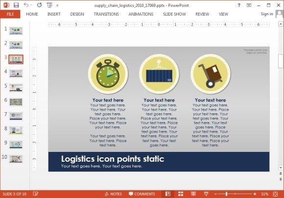 Animated supply chain powerpoint template supply chain comparison toneelgroepblik Gallery
