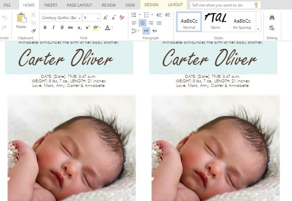 Announce the birth of your baby boy fppt for Baby birth announcements templates for free