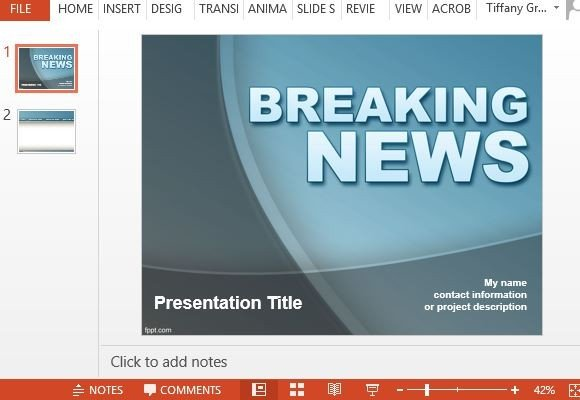Free news powerpoint templates catch peoples attention with breaking news template toneelgroepblik Gallery