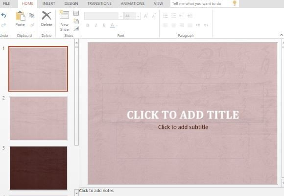 Free Calligraphy Powerpoint Template