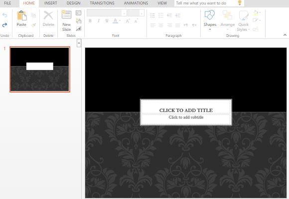 black tie powerpoint template