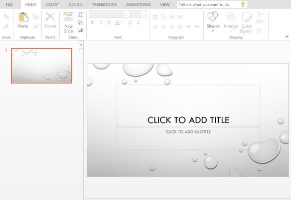 droplet powerpoint template