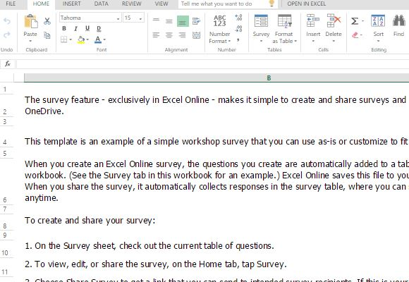 survey template comes with instructions for easy use and updating fppt