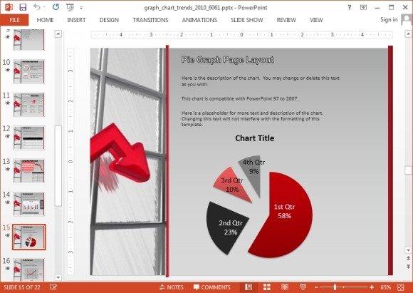 Animated pie chart slide