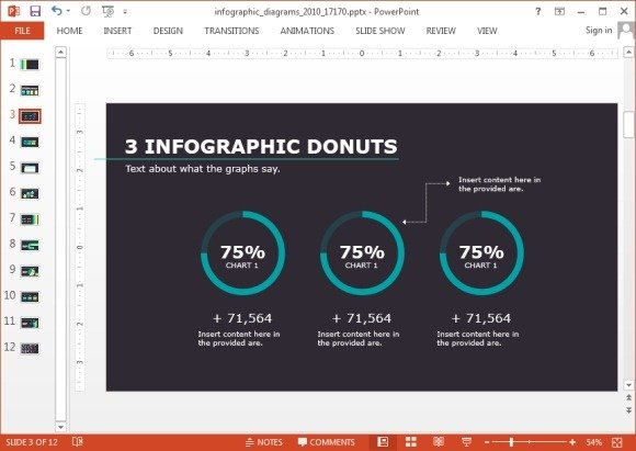 Donut charts for PowerPoint