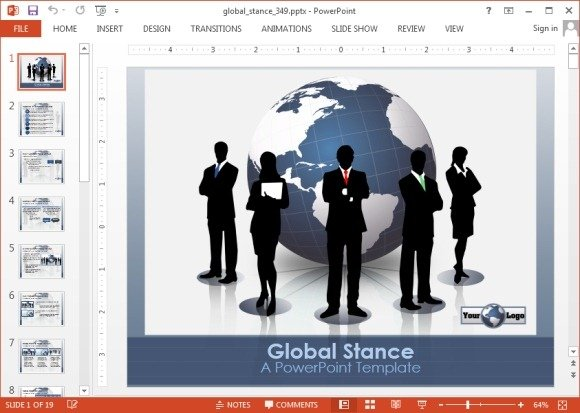 Global Stance Business Powerpoint Template