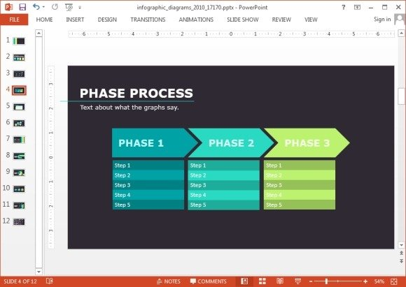 Phase process clipart