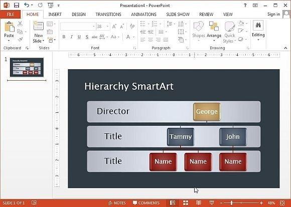 SmartArt Org Chart
