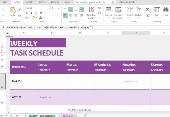 Create A Clean Weekly Schedule And Be On   Employee Task List