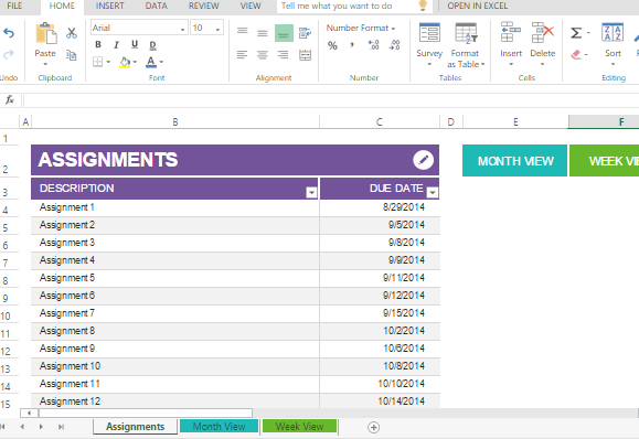 Student assignment planner template for excel maxwellsz