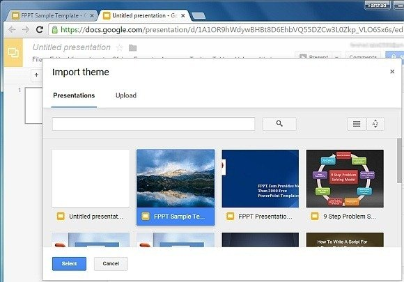 how to change your theme on google slides