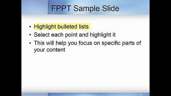Animate bullet list