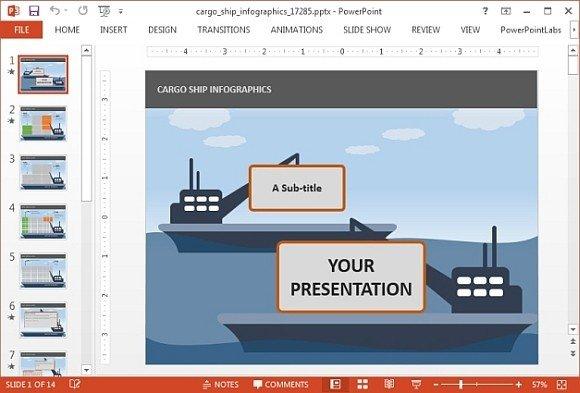 Animated cargo ship powerpoint template toneelgroepblik Gallery