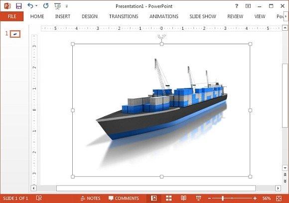 Cargo ship clipart