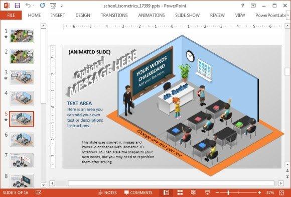 Classroom PowerPoint slide