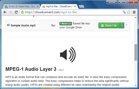 Download your converted audio file