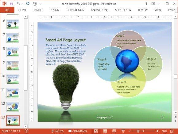 Environment smartart slide design