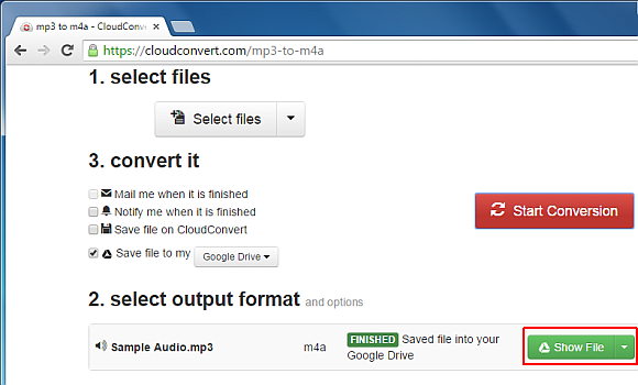 File conversion complete