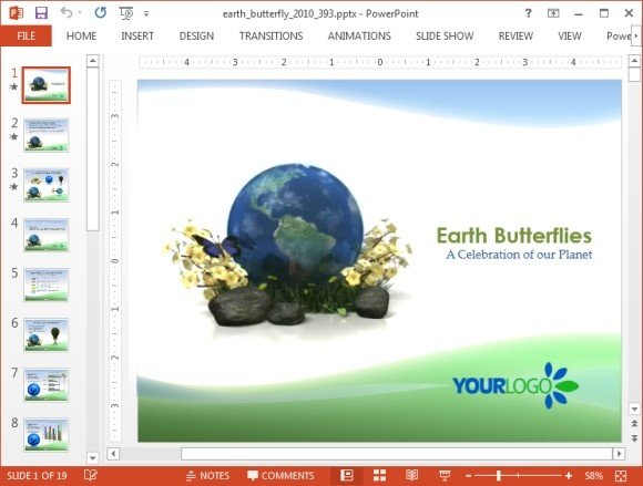 Animated environment powerpoint templates animated green earth powerpoint template toneelgroepblik Image collections