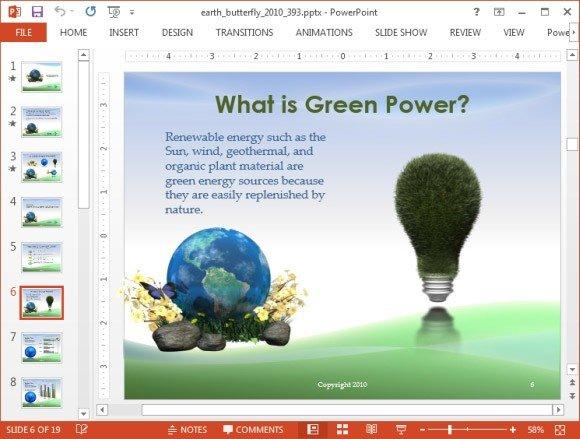Green earth slide design