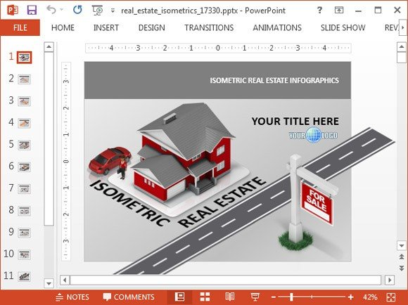 Isometric PowerPoint template